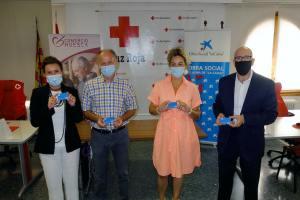 """Cruz Roja, CaixaBank, Fundación """"la Caixa"""" y Asociación de Comerciantes de Huesca capital unen fuerzas para apoyar a las personas más vulnerables"""