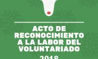 El viernes 21 tendrá lugar acto de reconocimiento del voluntariado