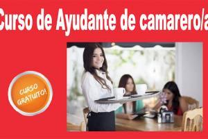 """Curso gratuito de """"Ayudante de camarero/a"""" en Barbastro"""