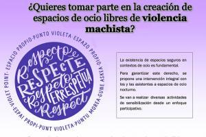 LA EXISTENCIA DE ESPACIOS SEGUROS, LIBRES DE VIOLENCIAS MACHISTAS, EN CONTEXTOS DE OCIO ES FUNDAMENTAL.