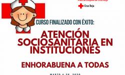 Finalizado con éxito el curso de capacitación profesional «Atención Sociosanitaria en Instituciones»