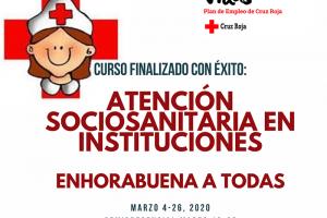 """Finalizado con éxito el curso de capacitación profesional """"Atención Sociosanitaria en Instituciones"""""""